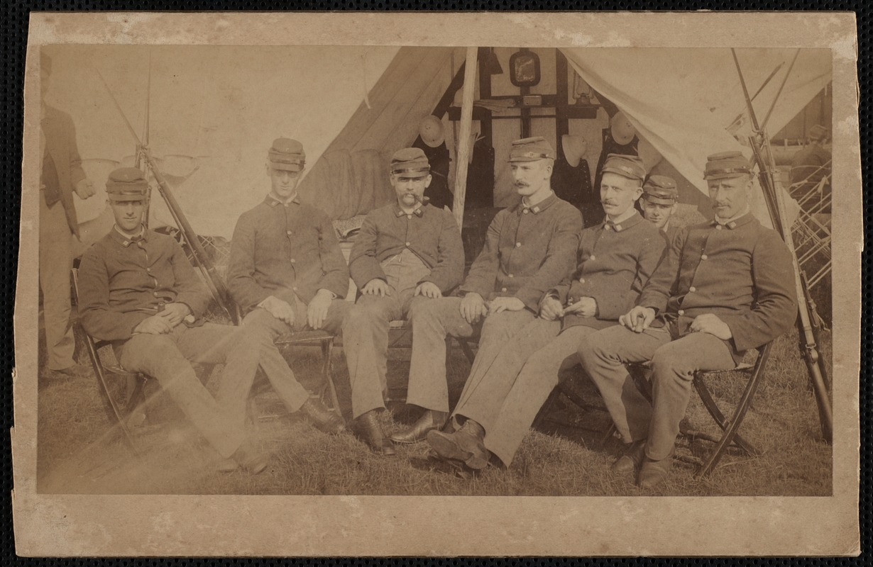 Soldiers Sitting in Front of Tent