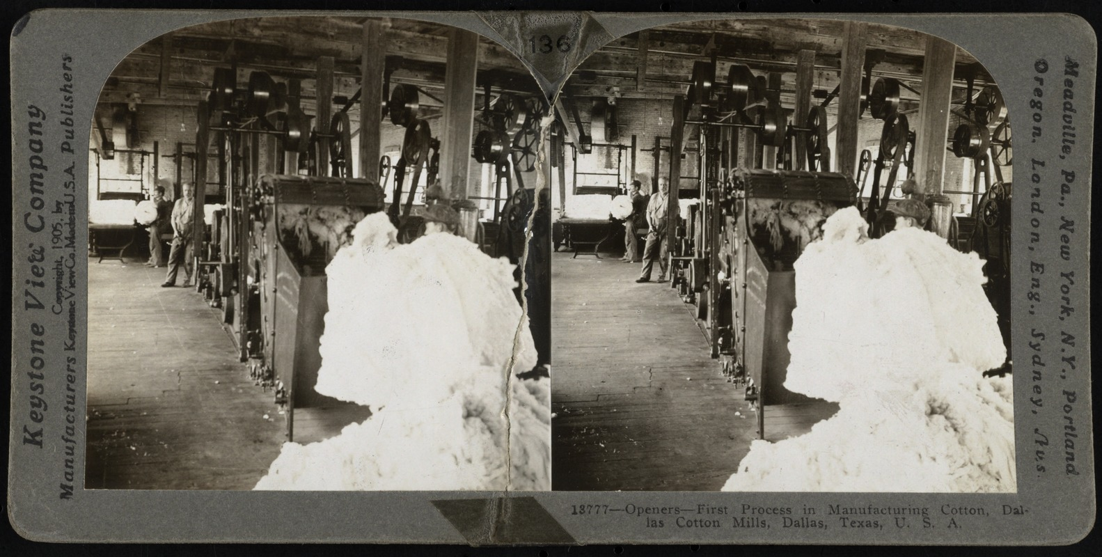 Openers - first process in manufacturing cotton