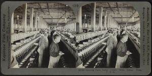 Spooling yarn, Dallas Cotton Mills, Texas