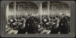 Weaving cotton cloth, Dallas, Texas, U.S.A.