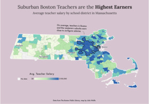 Suburban Boston teachers are the highest earners