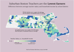 Suburban Boston teachers are the lowest earners
