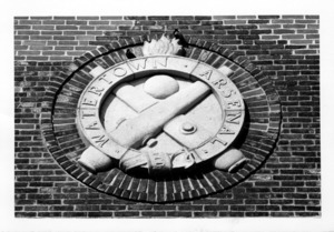 Bas relief medallion at the Arsenal