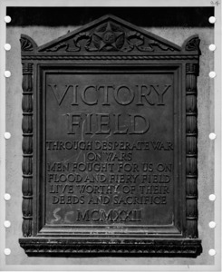 World War I plaque.