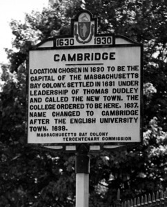 Cambridge boundary marker.