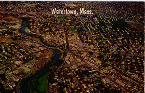 Aerial view of Watertown, Massachusetts.