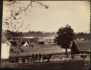 Camp Winfield Scott in front of Yorktown May 1862