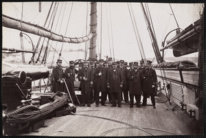 "U.S. Ship ""Kearsarge,"" these Officers were all present in action with the ""Alabama"""