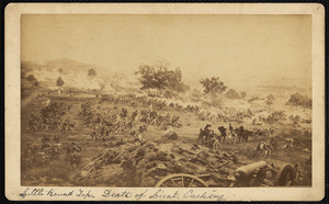 Little Round Top. Death of Lieutenant Cushing
