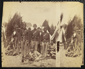 23d New York State Militia, [text on front indeciperable]