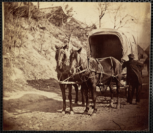 Brady's photograph wagon, Brady's ph[cut off] ready portrait[?] of...
