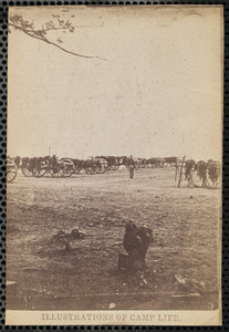Part of park of Battery C. 1st Rhode Island Light Artillery Winter 1861-1862, Illustrations of Camp Life