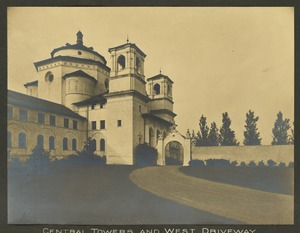 Central towers and west driveway, Overbrook School for the Blind, Philadelphia