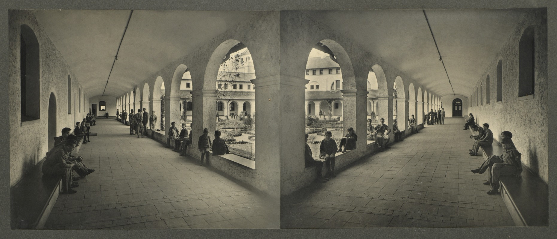 Boys' south and west cloisters, Overbrook School for the Blind, Philadelphia