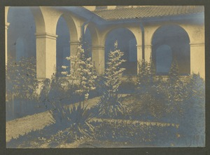 Corner of cloister garden in July, Overbrook School for the Blind, Philadelphia