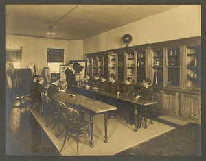 Class in physics, Overbrook School for the Blind, Philadelphia