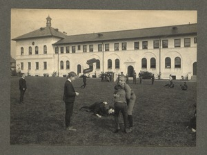 Wrestling and flying kites, Overbrook School for the Blind, Philadelphia