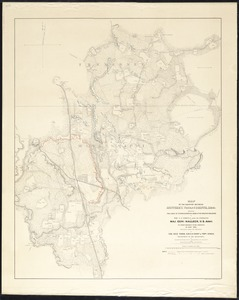 Map of the country between Monterey, Tenn: & Corinth, Miss: showing the lines of entrenchments made & the routes followed by the U.S. forces under the command of Maj. Genl. Halleck, U.S. Army, in their advance upon Corinth in May 1862:
