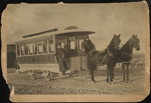 Brockton's first horse car
