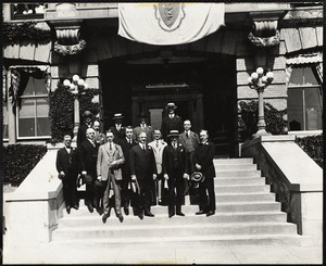Gov. Cox at executive building George E. Keith Shoe Co.