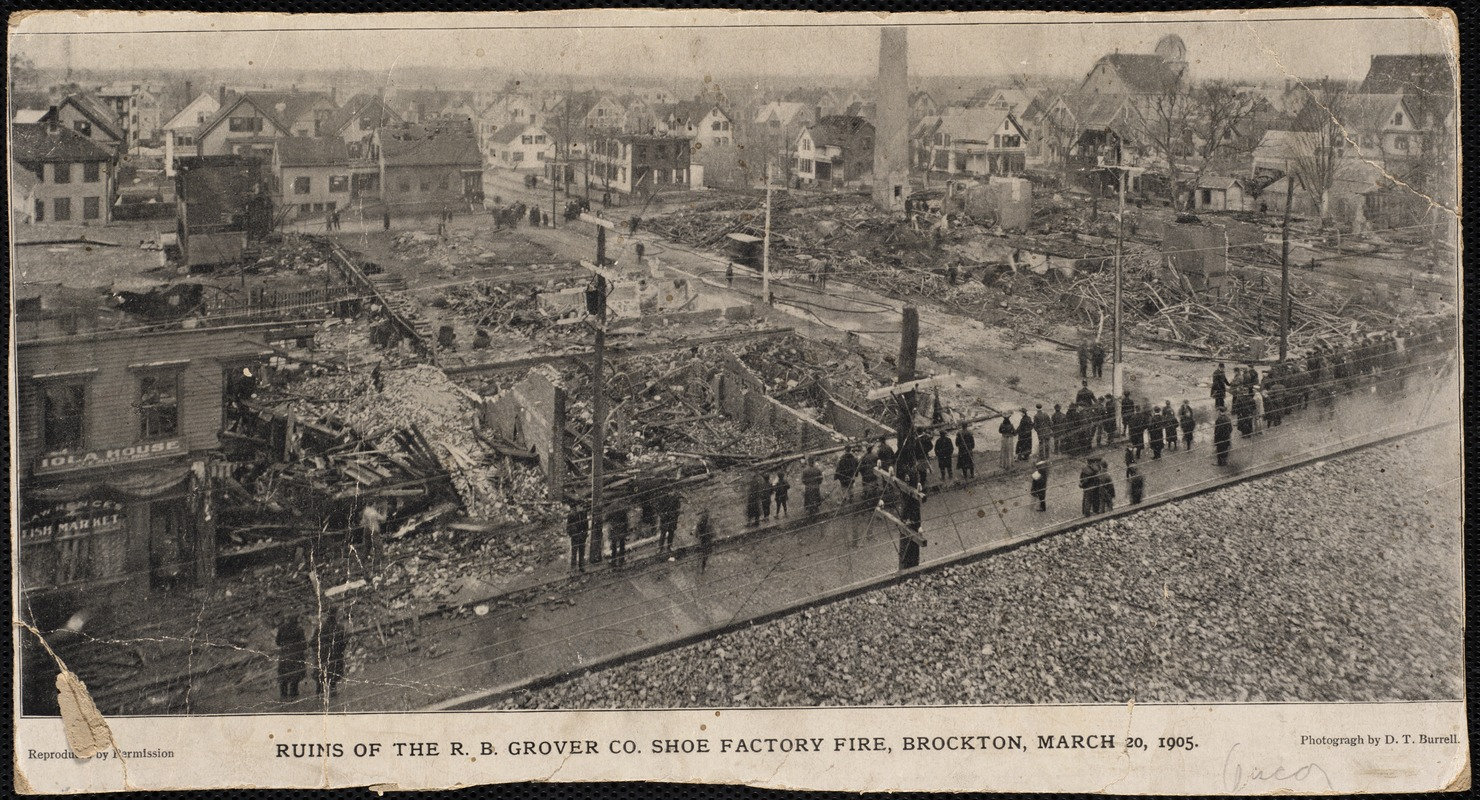 Ruins of the R. B. Grover Co. Shoe Factory fire