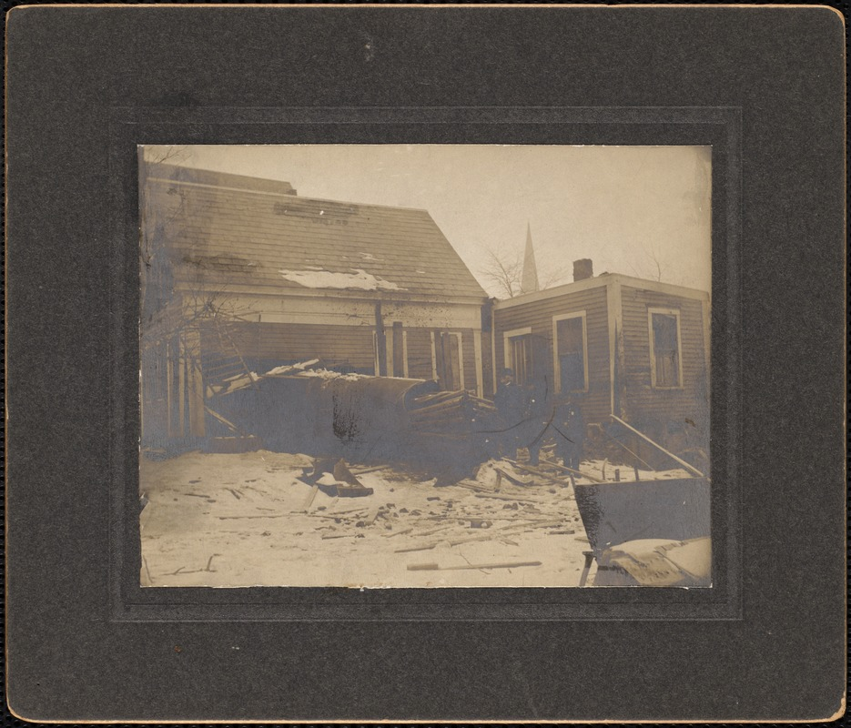 Dwelling house of Miss Mary Pratt--damage of Grover fire