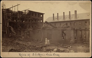 Ruins of J.S. Allen's Shoe Shop--Montello St.