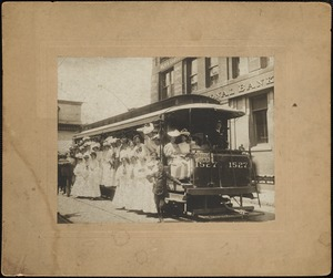 Women on electric street car