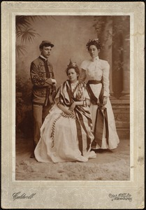 Orphan--3 people in period patriotic costume
