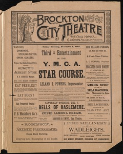 Third entertainment in the Y.M.C.A. Star Course