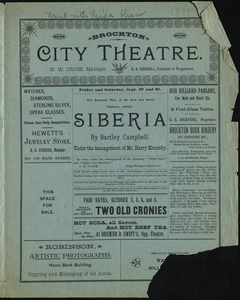 Siberia--under the management of Mr. Harry Kennedy