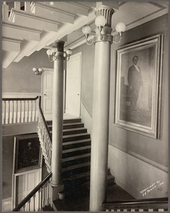 Faneuil Hall. Stairway - 1901