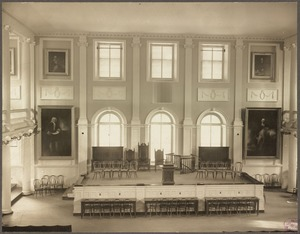 Boston, Massachusetts. Faneuil Hall. Interior