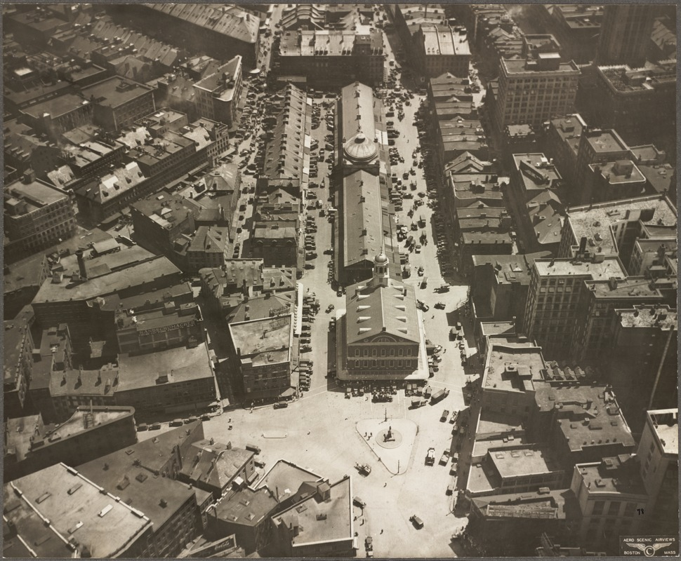 Adams Square and Quincy Market, 1929