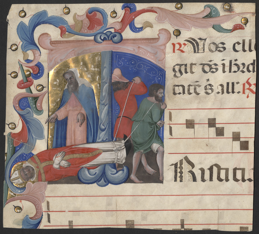 Cutting from a 14th-century antiphonal