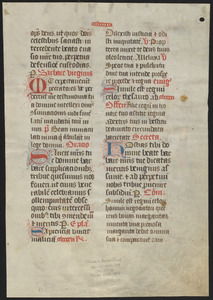 Single leaf from a 15th-century missal