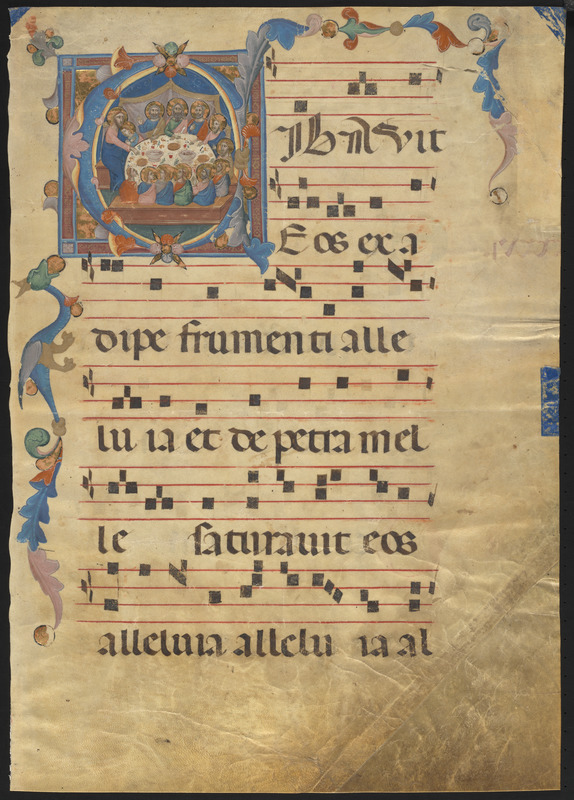Single leaf from a 14th-century gradual