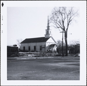 Baptist Church and snowplow