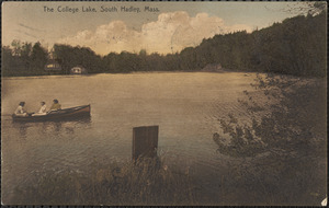 The College Lake, South Hadley, Mass.