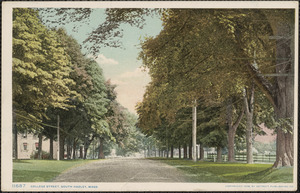 College Street, South Hadley, Mass.