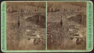 View from west bank showing break in both walls--Reservoir, Williamsburg