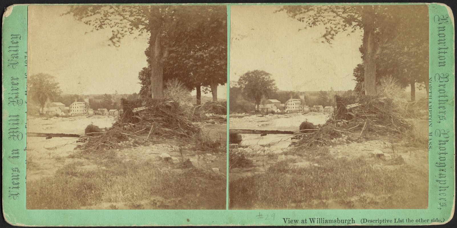 View looking down the river, James' Mill in distance--Williamsburg
