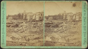 James' Mill, showing wash-out in road--Williamsburg