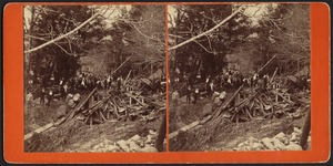 Workmen searching for bodies near Cook's Dam--Leeds