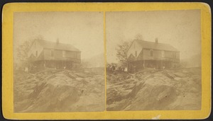 Tilton house (left) and flood path--Williamsburg