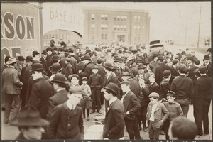 Fans at entrance to the Huntington Avenue Grounds, 1903 World Series