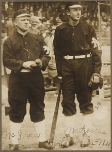 John McGraw and Christy Mathewson, New York Giants, 1911 World Series