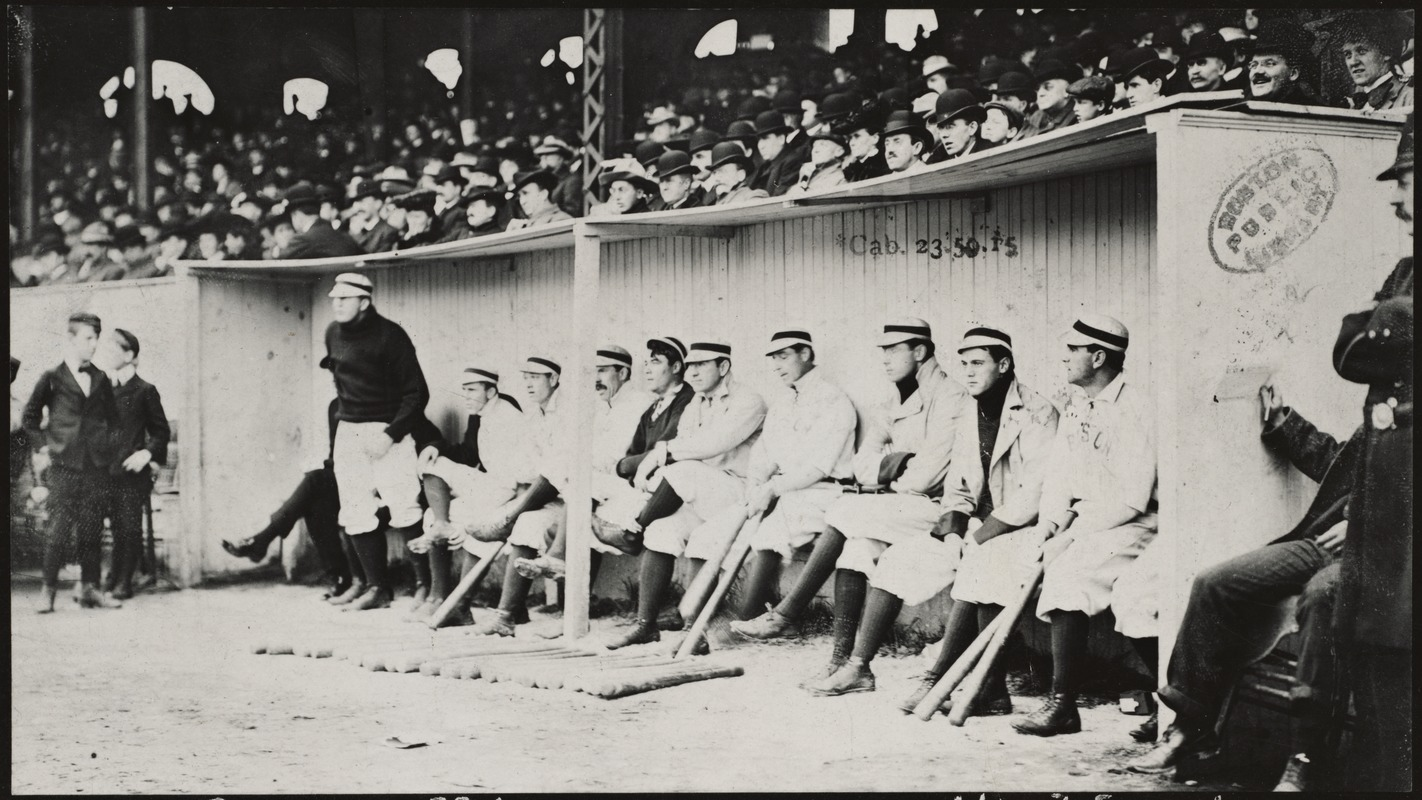 Boston Americans in dugout at the Huntington Avenue Grounds, 1903 World  Series