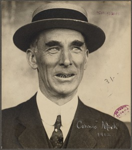 Connie Mack, Manager and owner of the Philadelphia Athletics