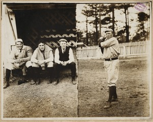 Cy Young Pitching/spectators in dugout